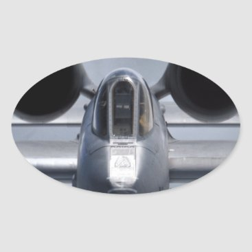 AFGHANISTAN A-10 CLOSEUP OVAL STICKER