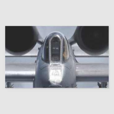 AFGHANISTAN A-10 CLOSEUP RECTANGULAR STICKER
