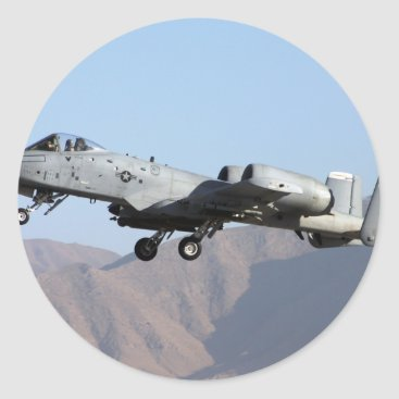 AFGHANISTAN A-10 TAKEOFF CLASSIC ROUND STICKER