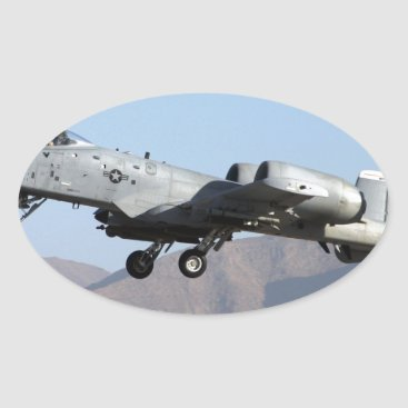 AFGHANISTAN A-10 TAKEOFF OVAL STICKER