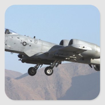 AFGHANISTAN A-10 TAKEOFF SQUARE STICKER