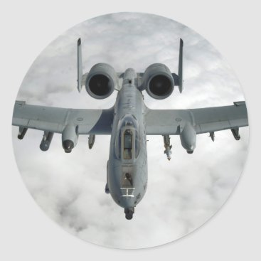 AFGHANISTAN A-10 THUNDERBOLT FRONT LOOK CLASSIC ROUND STICKER