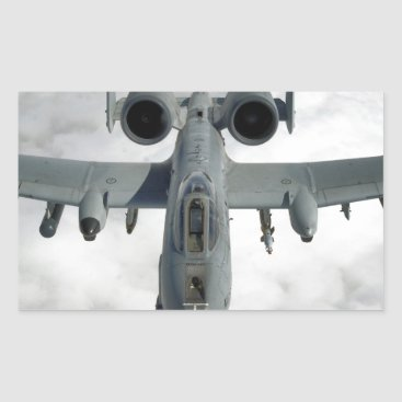 AFGHANISTAN A-10 THUNDERBOLT FRONT LOOK RECTANGULAR STICKER