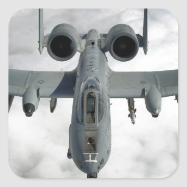 AFGHANISTAN A-10 THUNDERBOLT FRONT LOOK SQUARE STICKER