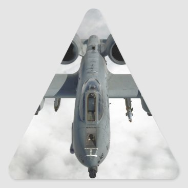 AFGHANISTAN A-10 THUNDERBOLT FRONT LOOK TRIANGLE STICKER