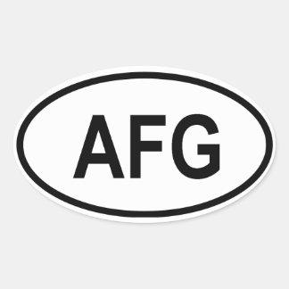 """Afghanistan """"AFG"""" Oval Sticker"""