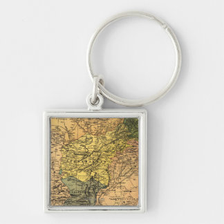 Afghanistan and Surrounding Countries Map Key Chain