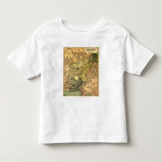 Afghanistan and Surrounding Countries Map Toddler T-shirt