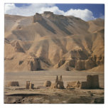 Afghanistan, Bamian Valley. Ancient earthen Ceramic Tile