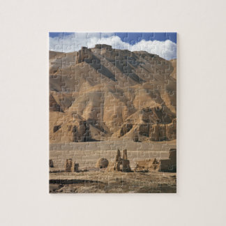 Afghanistan, Bamian Valley. Ancient earthen Jigsaw Puzzle