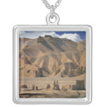 Afghanistan, Bamian Valley. Ancient earthen Square Pendant Necklace