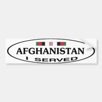 AFGHANISTAN BUMP STICKER CAR BUMPER STICKER