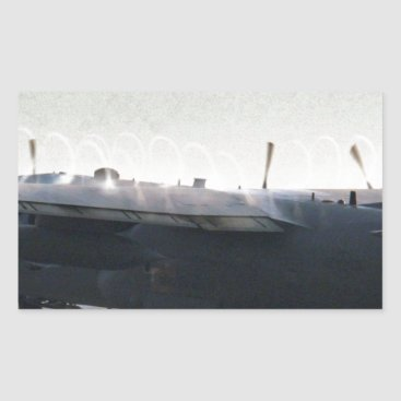 AFGHANISTAN C-130 HERCULES TAKEOFF RECTANGULAR STICKER