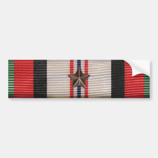 Afghanistan Campaign Medal1 Star Bumper Sticker