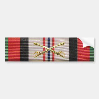 Afghanistan Campaign Ribbon Crossed Sabers Sticker