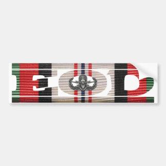 Afghanistan Campaign Ribbon EOD Bumper Sticker Car Bumper Sticker