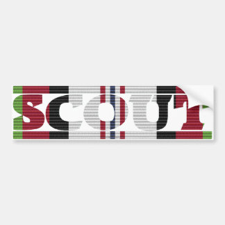 Afghanistan Campaign Ribbon Scout Bumper Sticker