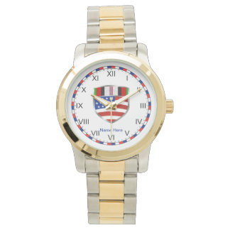 Afghanistan Campaign Ribbon Wrist Watch