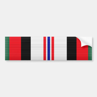 Afghanistan Campaign Service Ribbon Car Bumper Sticker