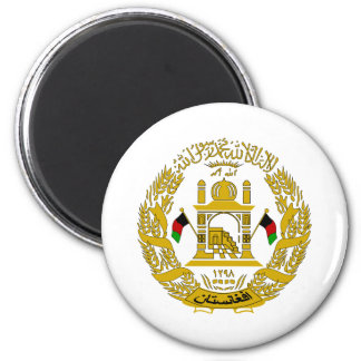Afghanistan Coat Of Arms 2 Inch Round Magnet