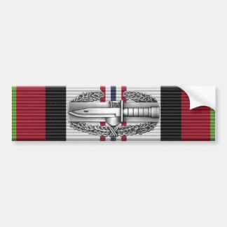 Afghanistan Combat Action Badge Bumper Sticker