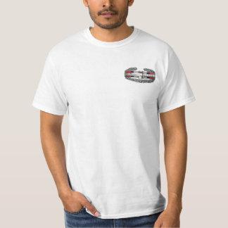 Afghanistan Combat Action Badge Front & Back Print T-Shirt