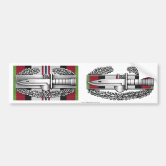 Afghanistan Combat Action Badge Sticker Pair
