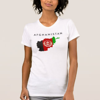 afghanistan country flag map shape symbol silhouet T-Shirt