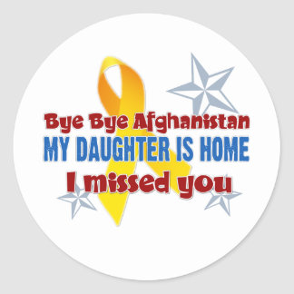 Afghanistan Daughter Classic Round Sticker