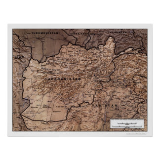 Afghanistan Detailed Map 1999 Print