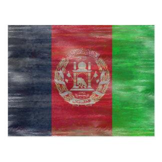 Afghanistan distressed Afghan flag Postcard