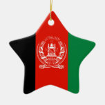 Afghanistan Double-Sided Star Ceramic Christmas Ornament