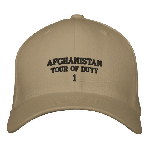 AFGHANISTAN EMBROIDERED BASEBALL HAT