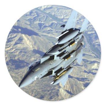 AFGHANISTAN F-15 BREAKAWAY CLASSIC ROUND STICKER