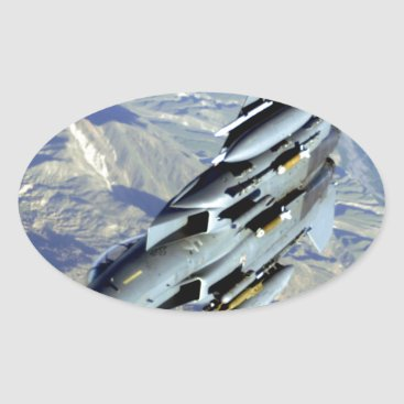 AFGHANISTAN F-15 BREAKAWAY OVAL STICKER