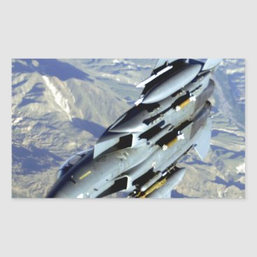 AFGHANISTAN F-15 BREAKAWAY RECTANGULAR STICKER