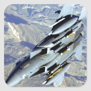 AFGHANISTAN F-15 BREAKAWAY SQUARE STICKER