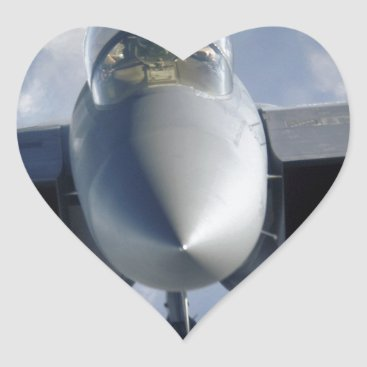 AFGHANISTAN F-15 CLOSEUP HEART STICKER