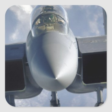 AFGHANISTAN F-15 CLOSEUP SQUARE STICKER