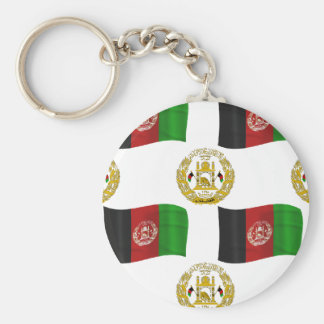Afghanistan Flag and crest Keychain