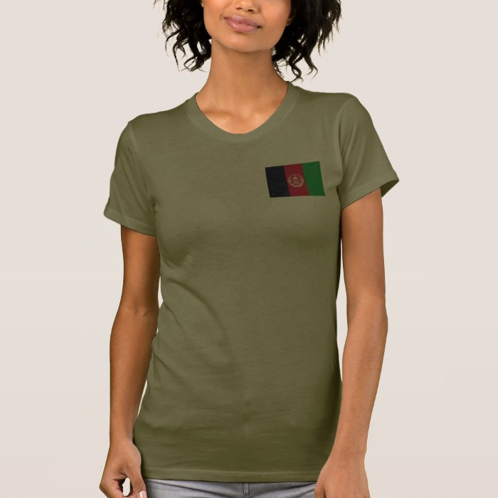 Afghanistan Flag and Map dk T-Shirt