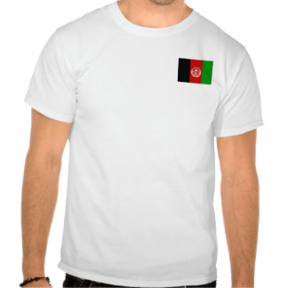 Afghanistan Flag and Map T-Shirt