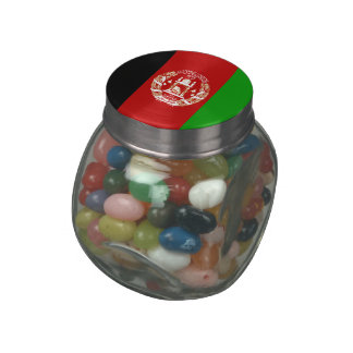 Afghanistan Flag Glass Candy Jars