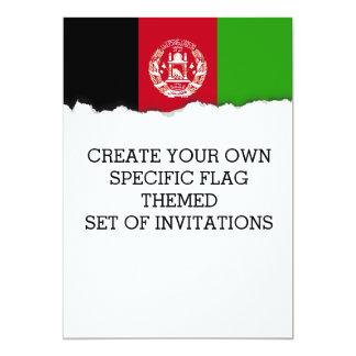 Afghanistan Flag Card