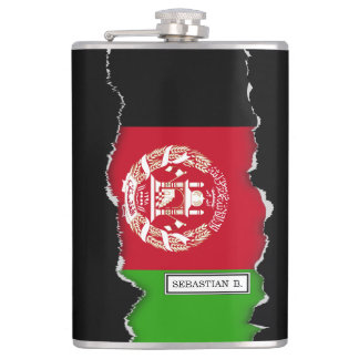 Afghanistan Flag Flask