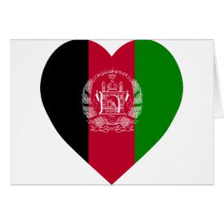 Afghanistan Flag Heart Card