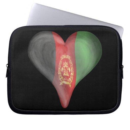 Afghanistan Flag In A Heart Computer Sleeve