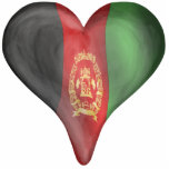 Afghanistan Flag In A Heart Cut Out