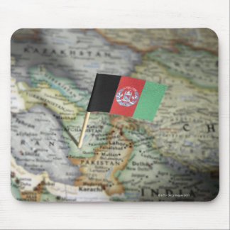 Afghanistan flag in map mouse pad