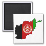 Afghanistan Flag Map 2 Inch Square Magnet